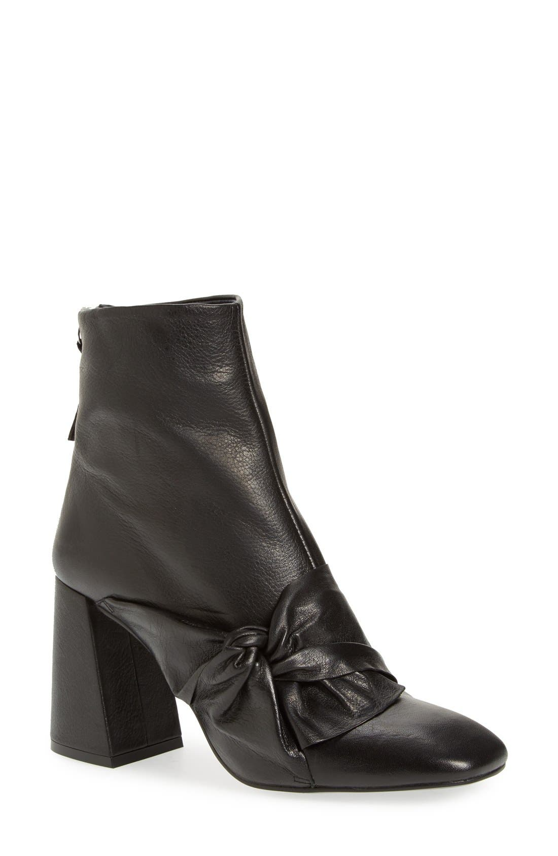 Alternate Image 1 Selected - Topshop 'Bow Monroe' Knotted Bootie (Women)