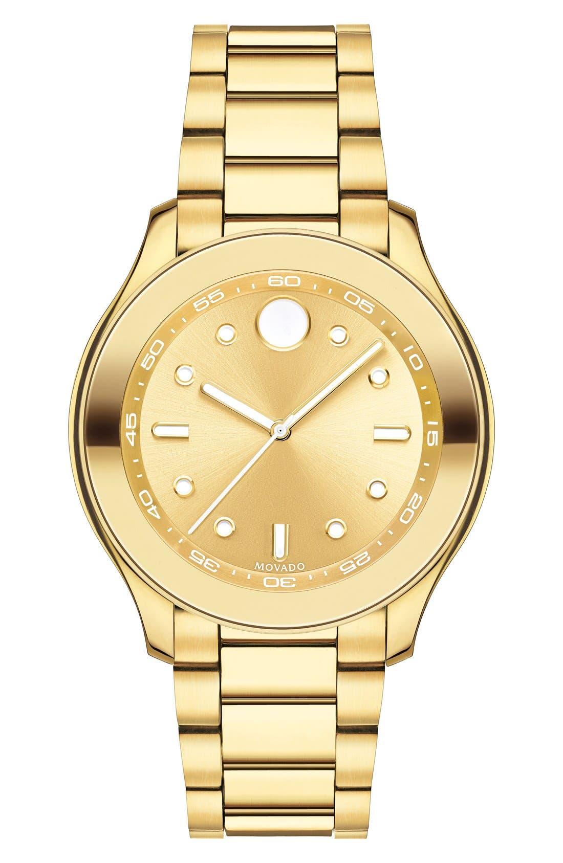 'Bold' Bracelet Watch, 38mm,                         Main,                         color, Gold