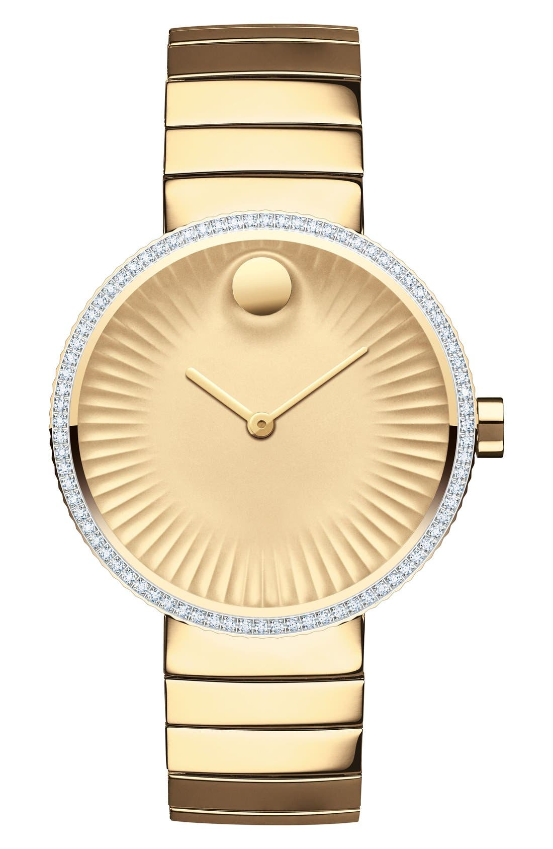'Edge' Diamond Bracelet Watch, 34mm,                         Main,                         color, Gold