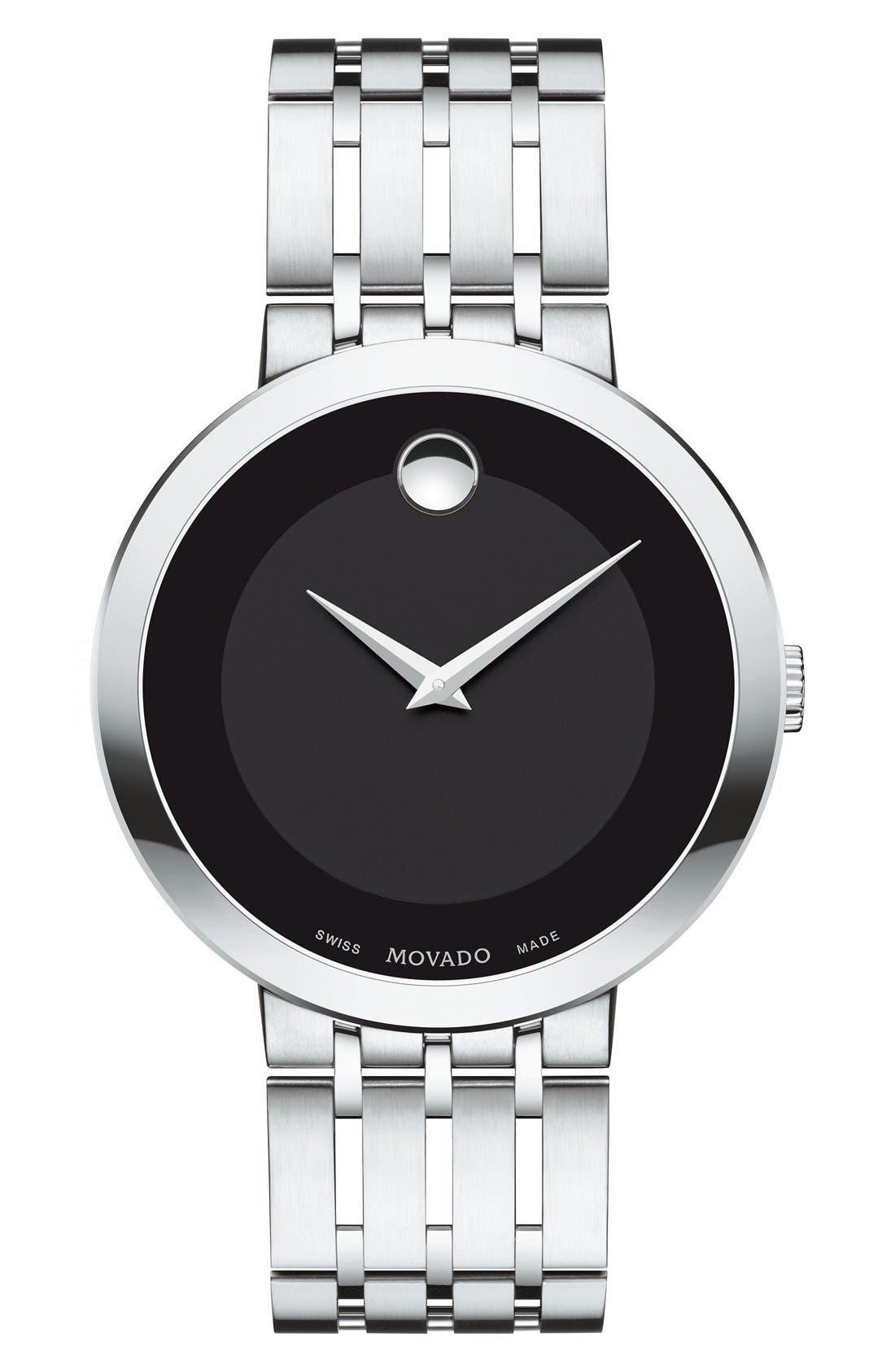 'Esperanza' Bracelet Watch, 39mm,                             Main thumbnail 1, color,                             Silver/ Black