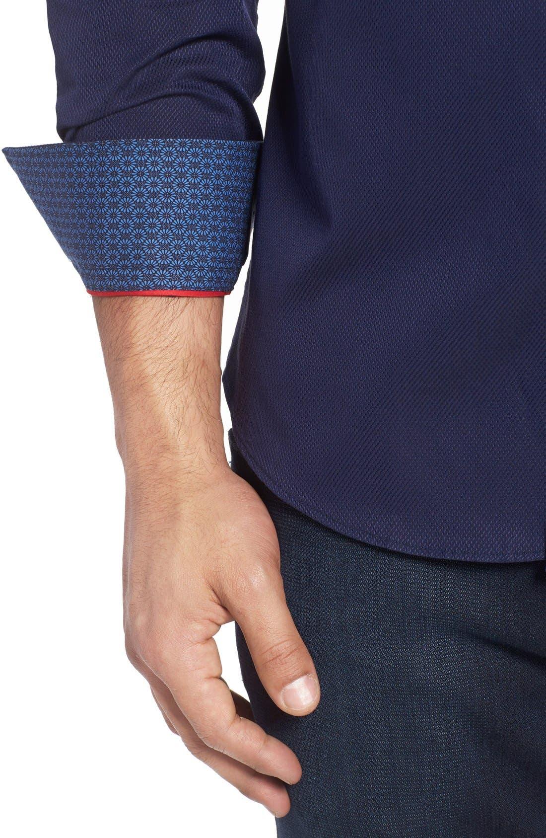 Alternate Image 4  - Stone Rose Textured Sport Shirt