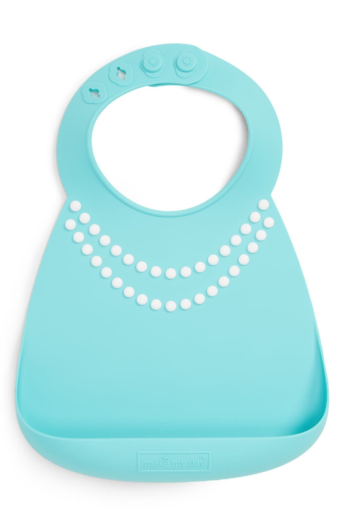 'Breakfast at Mom's' Bib,                         Main,                         color, Pearl