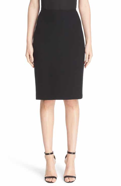 St. John Collection Micro Bouclé Pencil Skirt