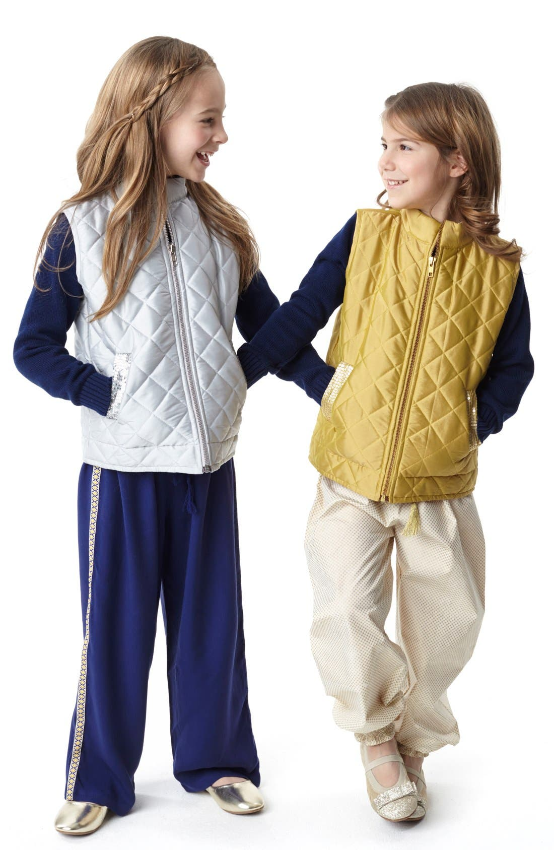 Alternate Image 4  - Masalababy 'Estelle' Quilted Vest (Toddler Girls, Little Girls & Big Girls)