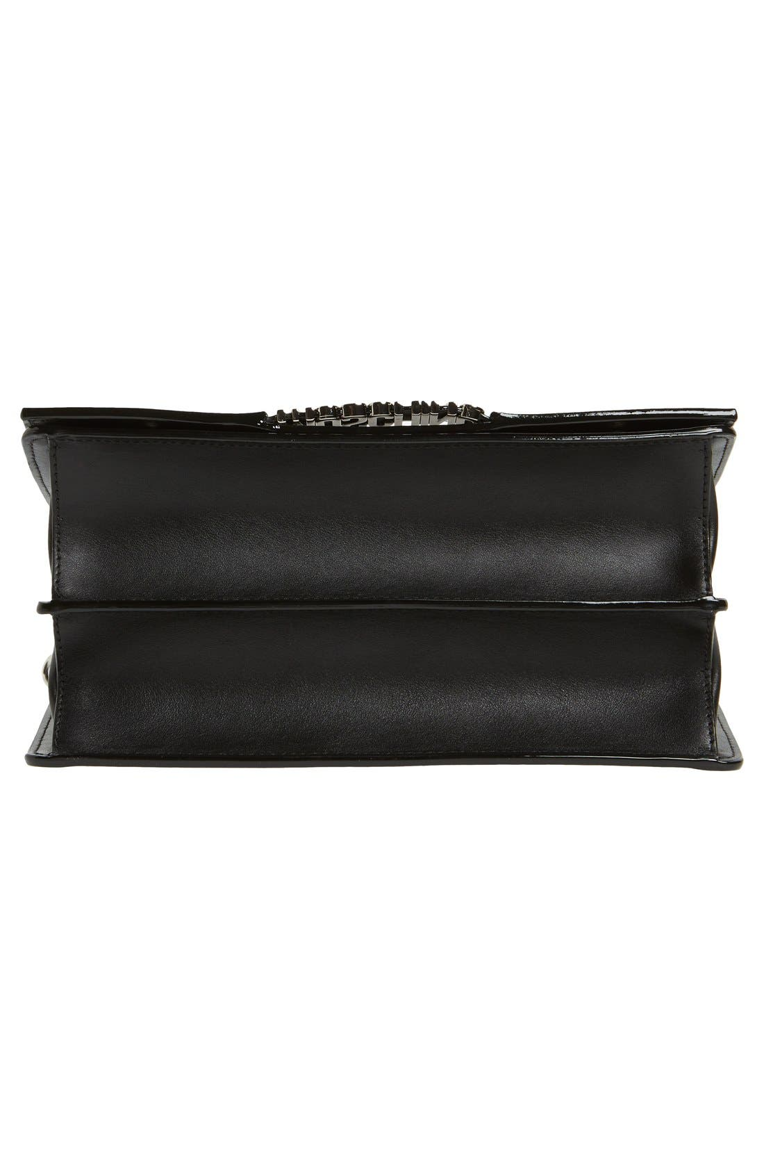 Alternate Image 5  - Moschino Top Handle Leather Crossbody Bag
