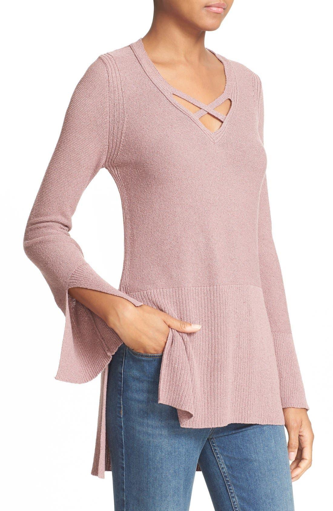 Alternate Image 4  - Free People Crisscross Sweater