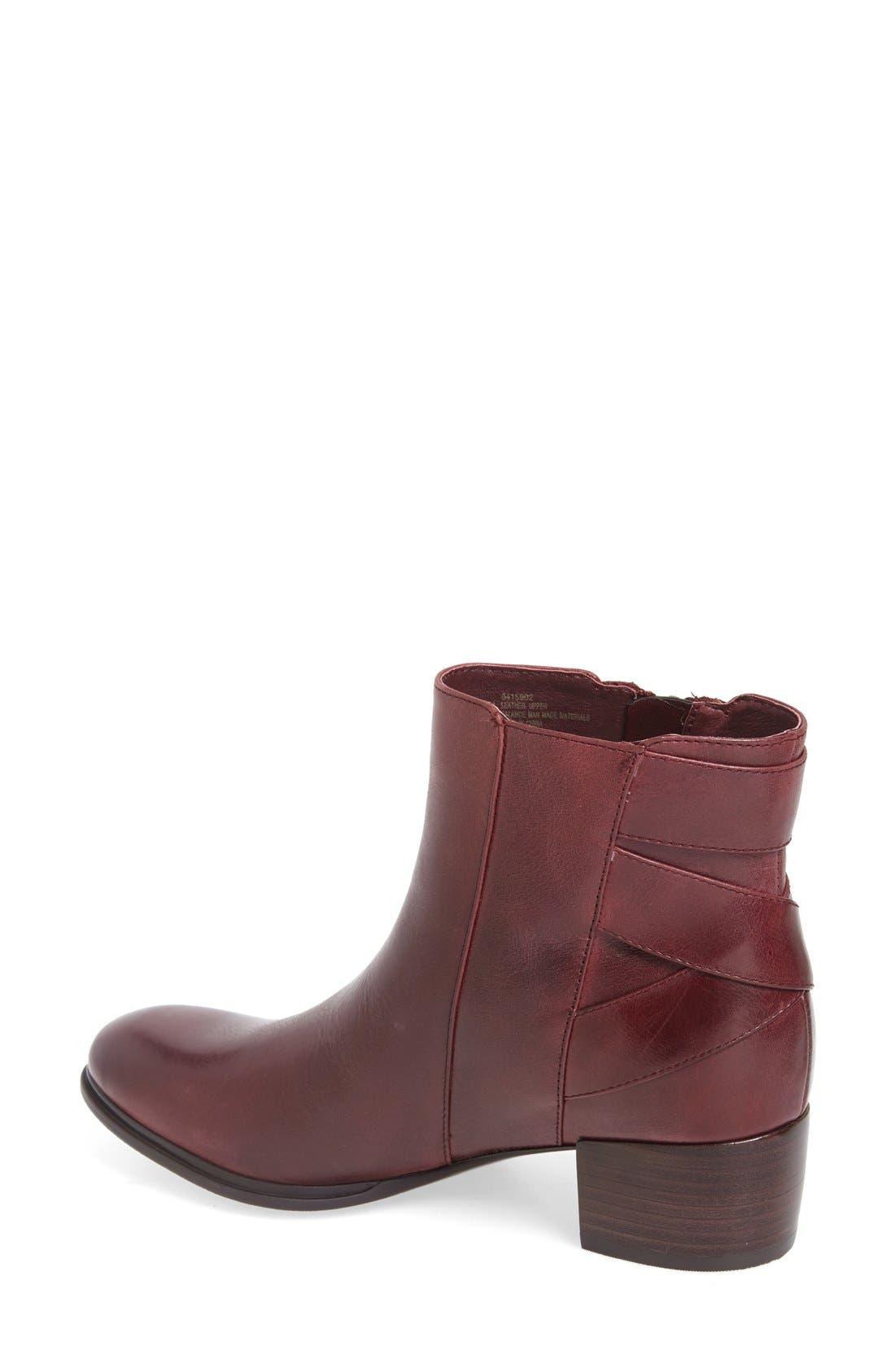 'Delta' Bootie,                             Alternate thumbnail 2, color,                             Burgundy Leather