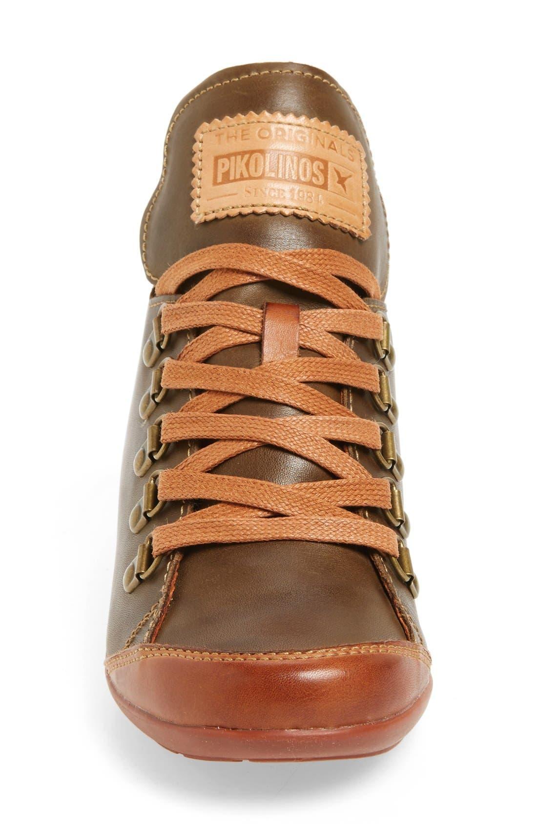 Lisboa High Top Sneaker,                             Alternate thumbnail 3, color,                             Moss Leather
