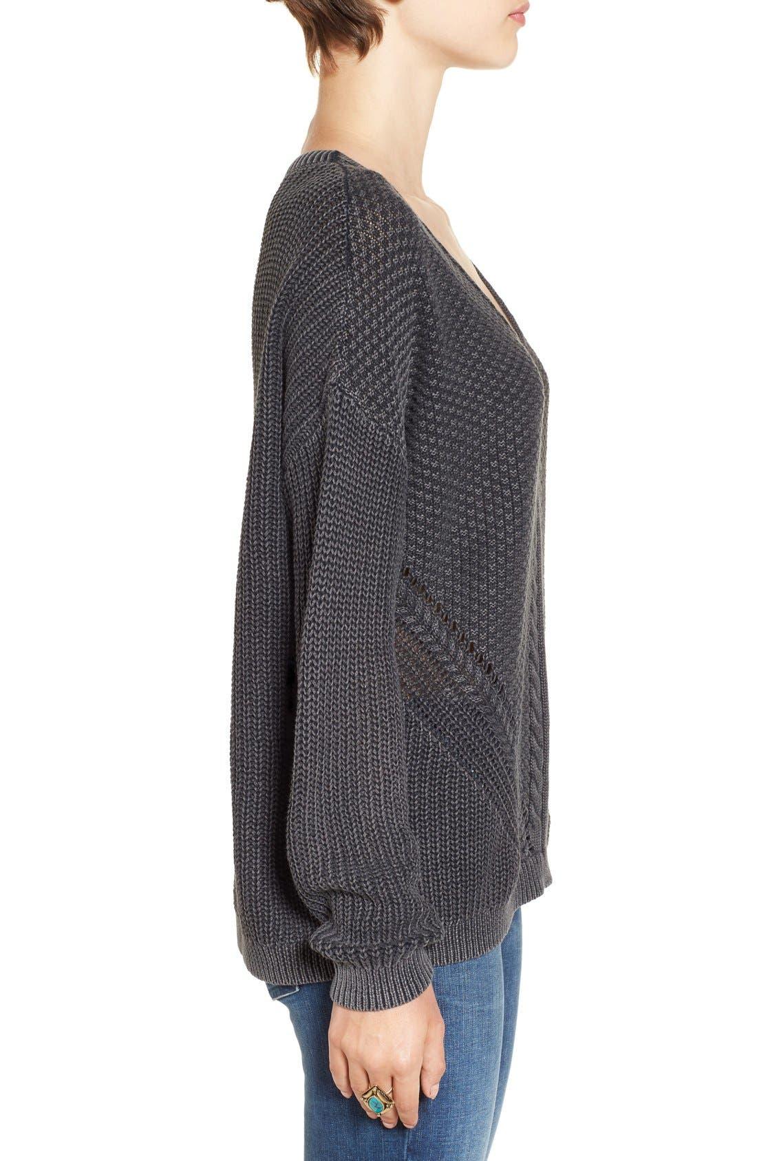 Alternate Image 3  - BP. V-Neck Cable Knit Pullover