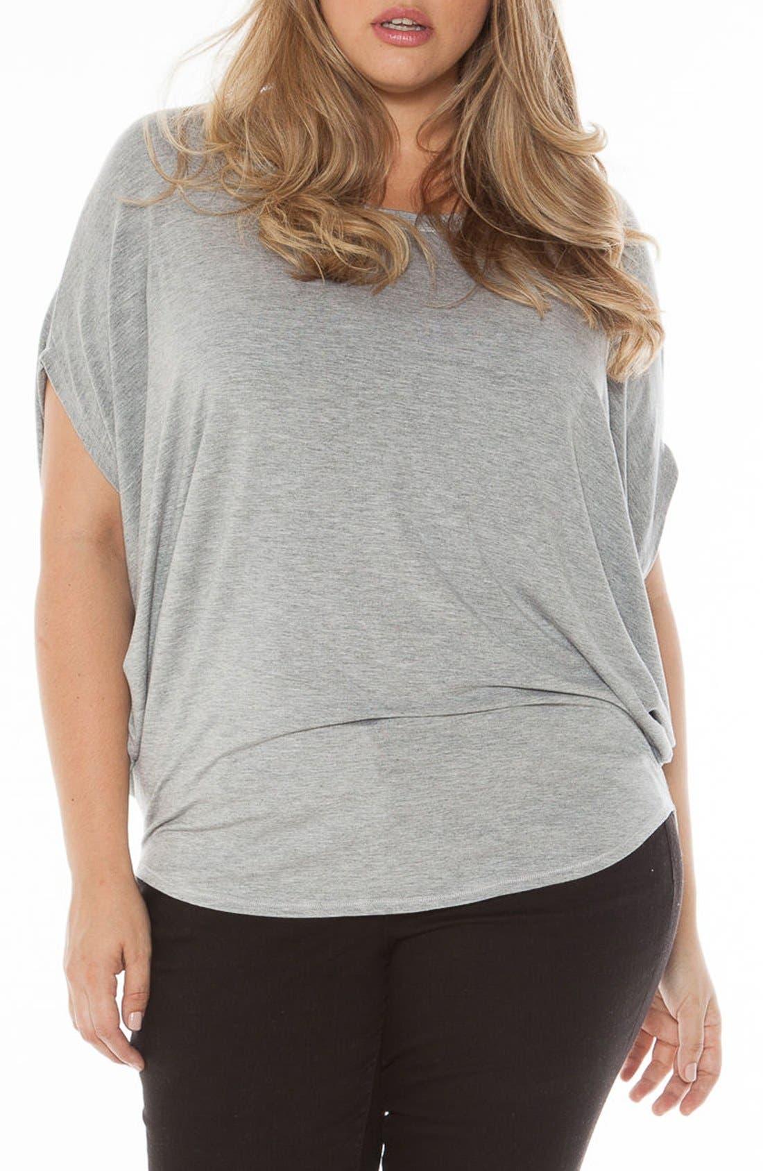 Main Image - SLINK Jeans Drape Side Jersey Tee (Plus Size)
