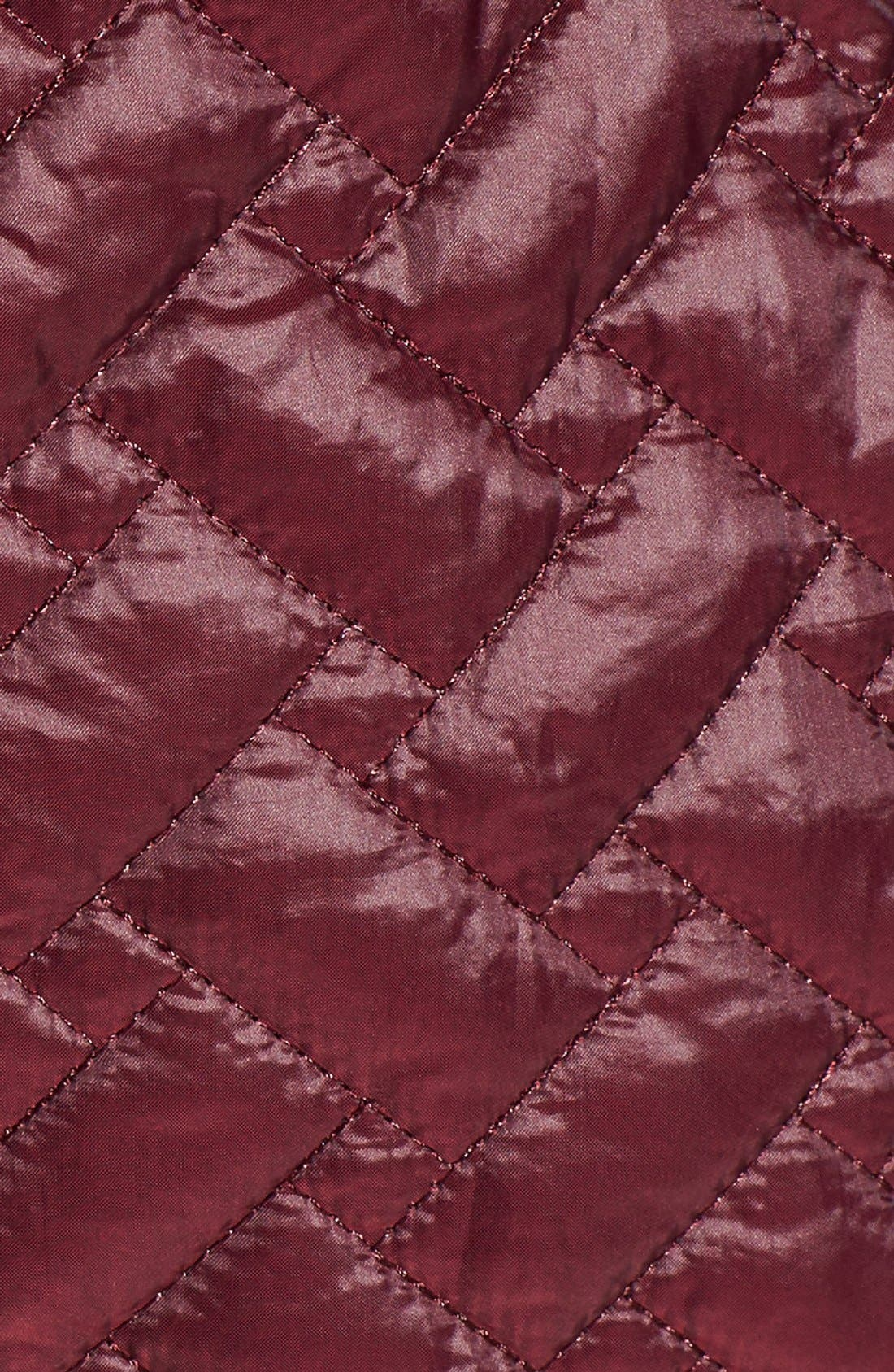 'Thermore' Water Repellent Quilted Coat,                             Alternate thumbnail 5, color,                             Cabernet