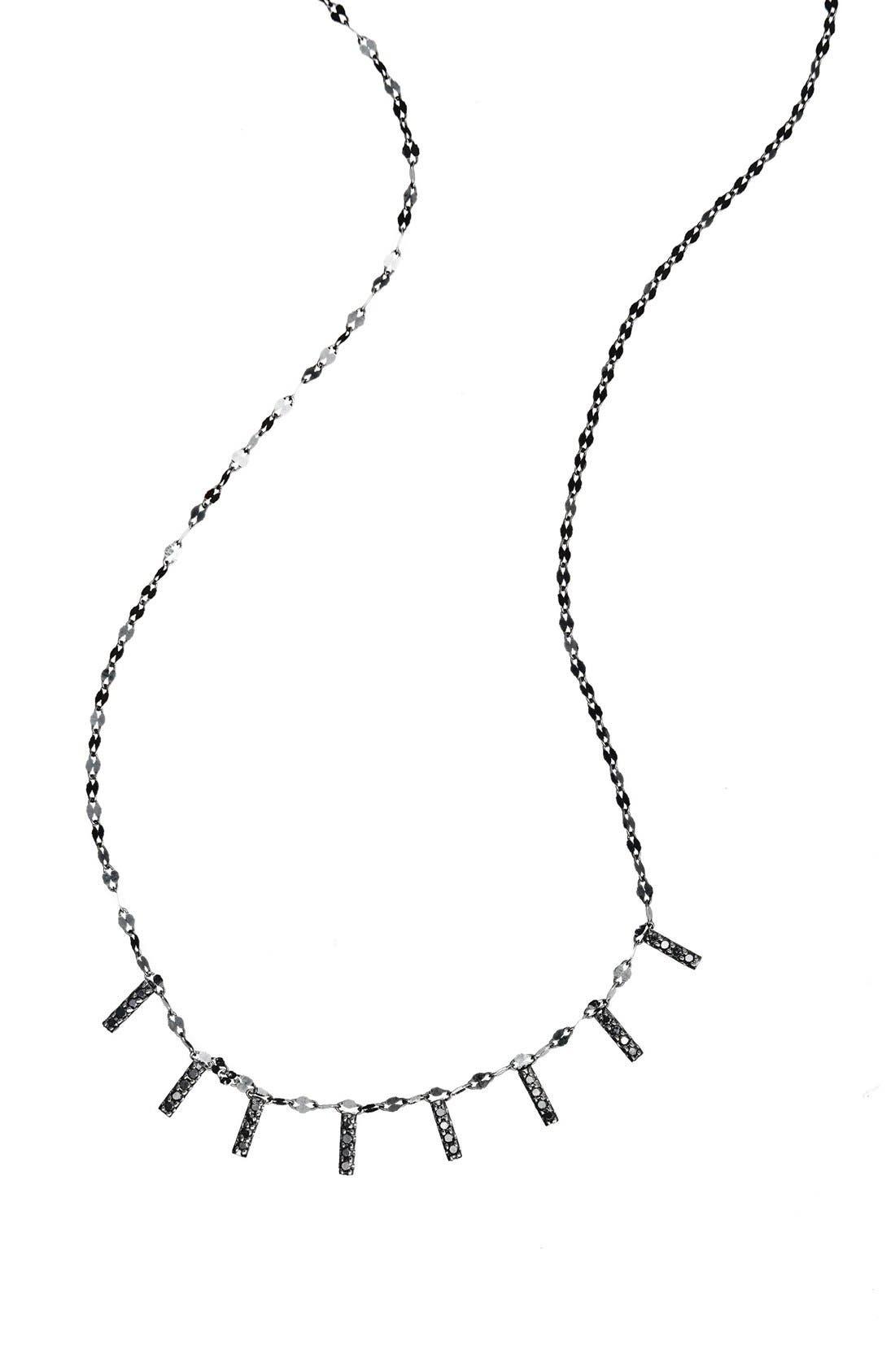 'Reckless' Mini Bar Station Necklace,                             Main thumbnail 1, color,                             Black