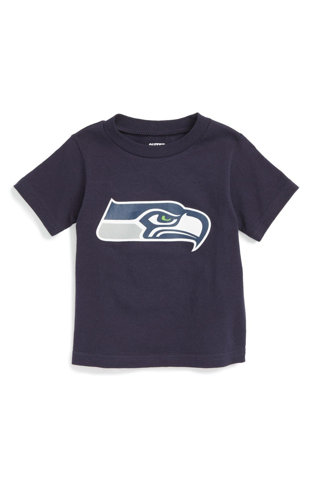Main Image - Outerstuff NFL Distressed Logo Graphic T-Shirt (Baby Boys)