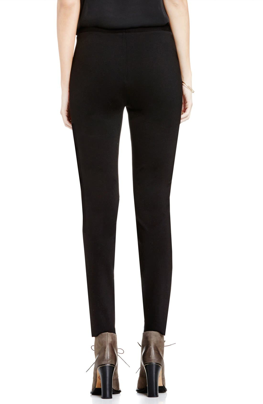 Alternate Image 2  - Two by Vince Camuto Faux Leather & Ponte Leggings