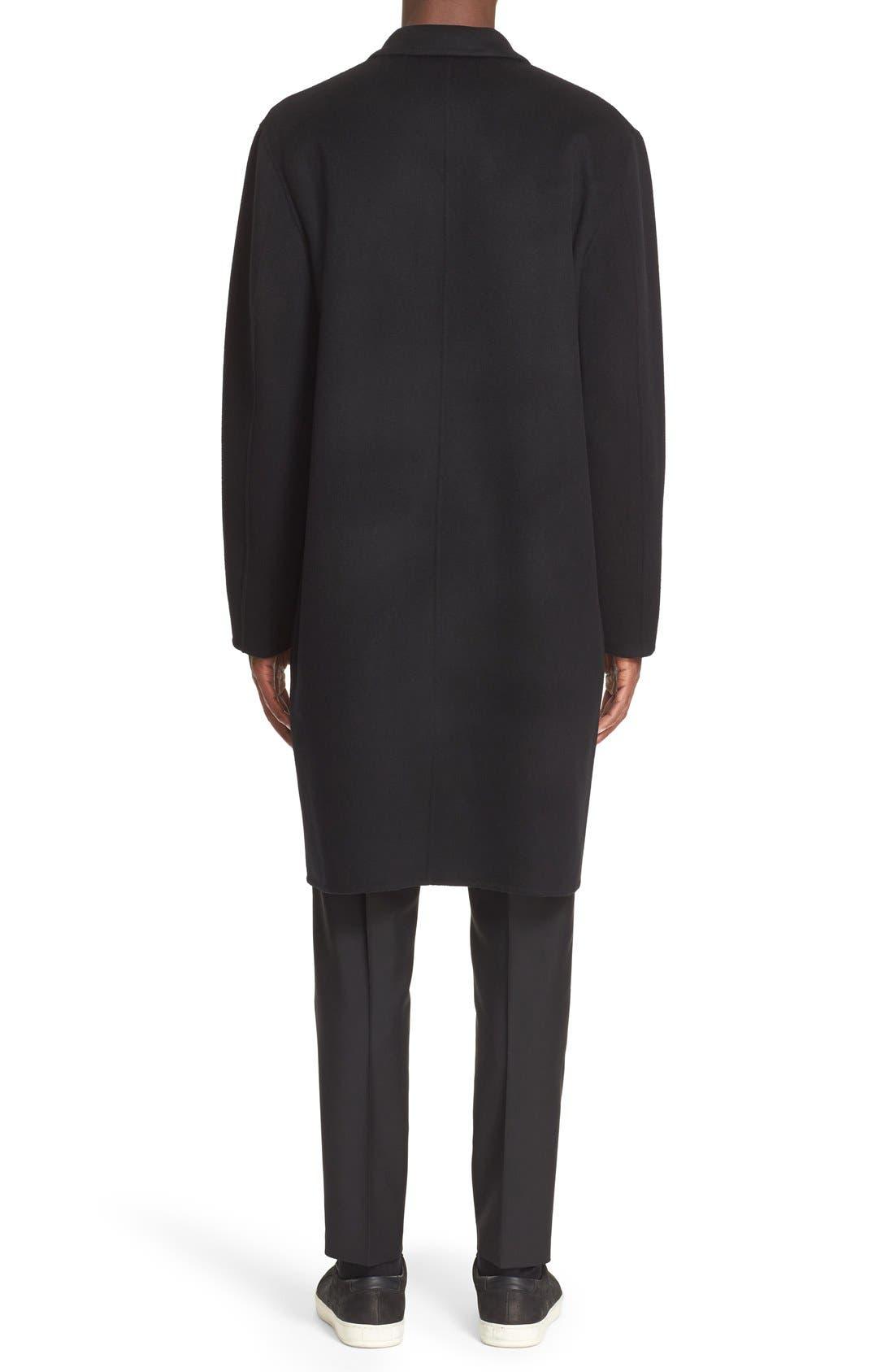 Charles Wool & Cashmere Coat,                             Alternate thumbnail 2, color,                             Black
