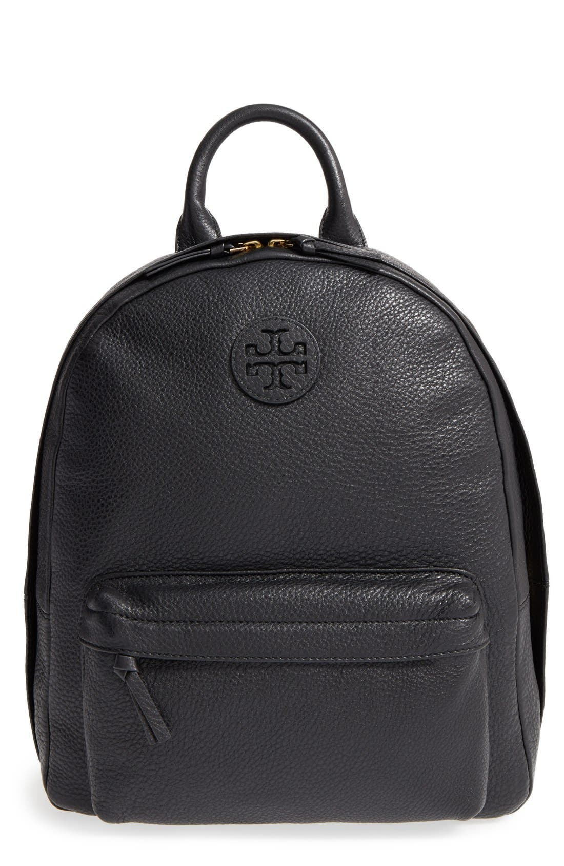 Main Image - Tory Burch Pebbled Leather Backpack
