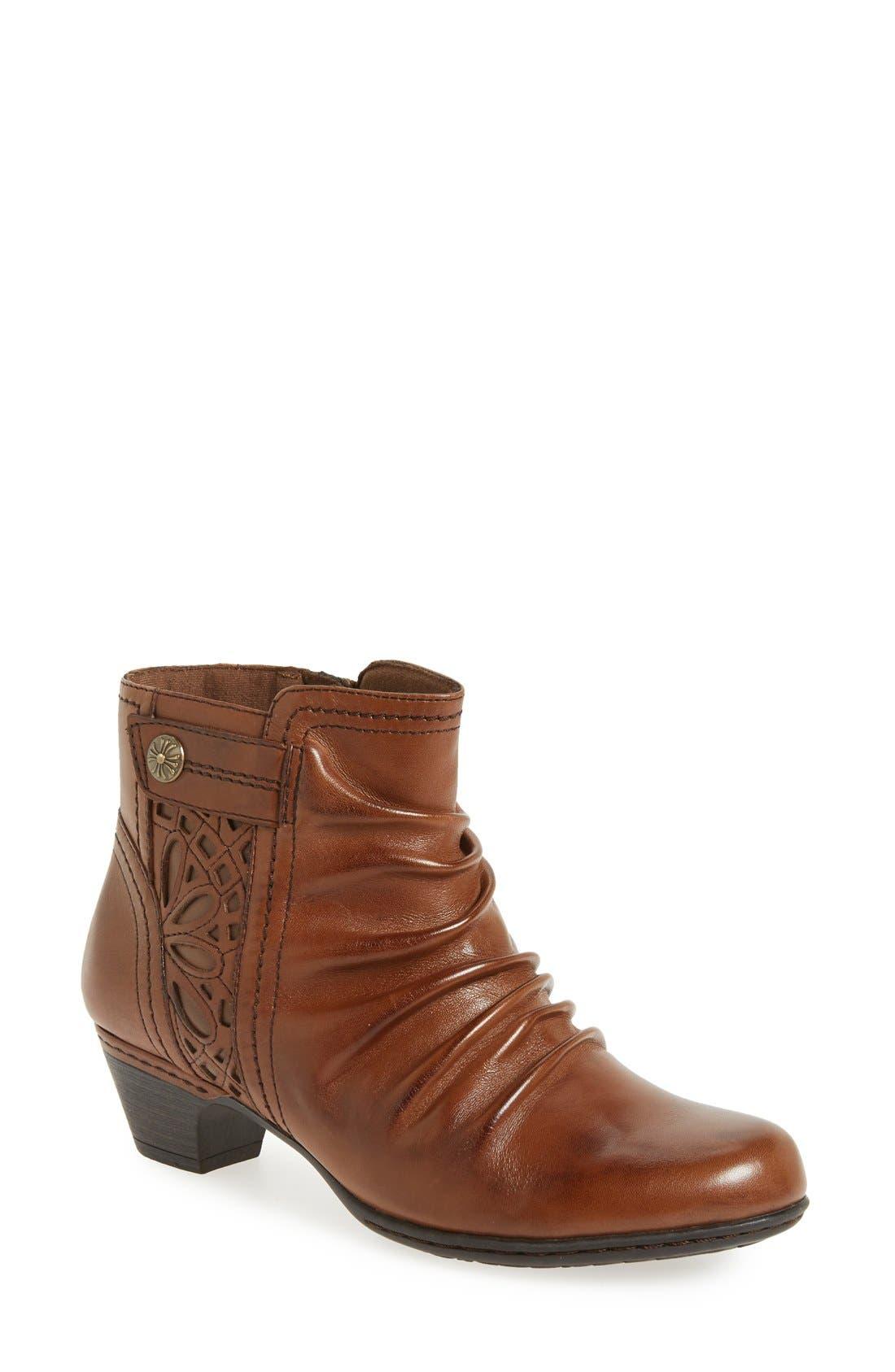 'Abilene' Bootie,                         Main,                         color, Almond Leather