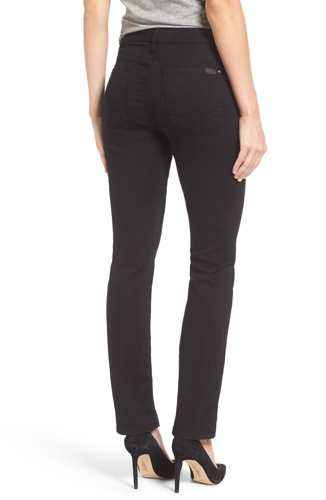 Stretch Slim Straight Leg Jeans,                             Alternate thumbnail 2, color,                             Riche Touch Black Noir