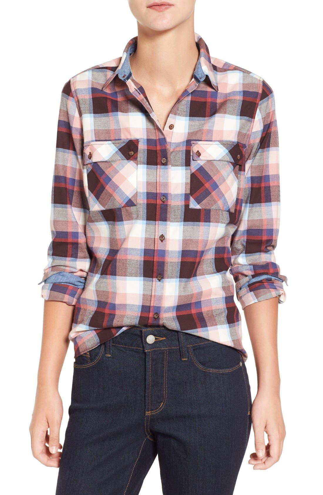 'Darwen' Plaid Shirt,                         Main,                         color, Pink Check