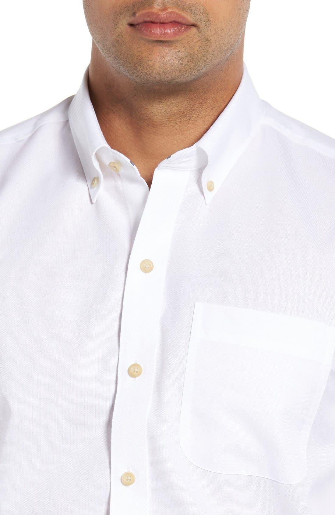 San Juan Classic Fit Wrinkle Free Solid Sport Shirt,                             Alternate thumbnail 4, color,                             White