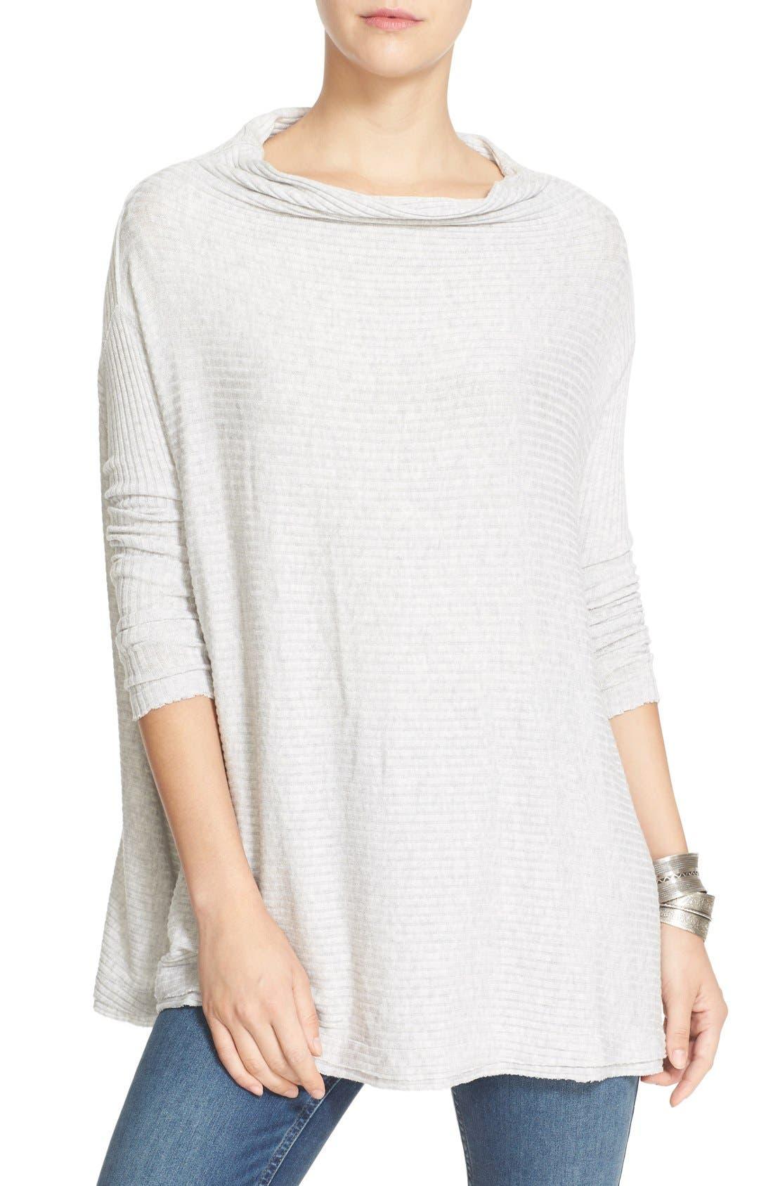 Lover Rib Split Back Pullover,                         Main,                         color, Grey