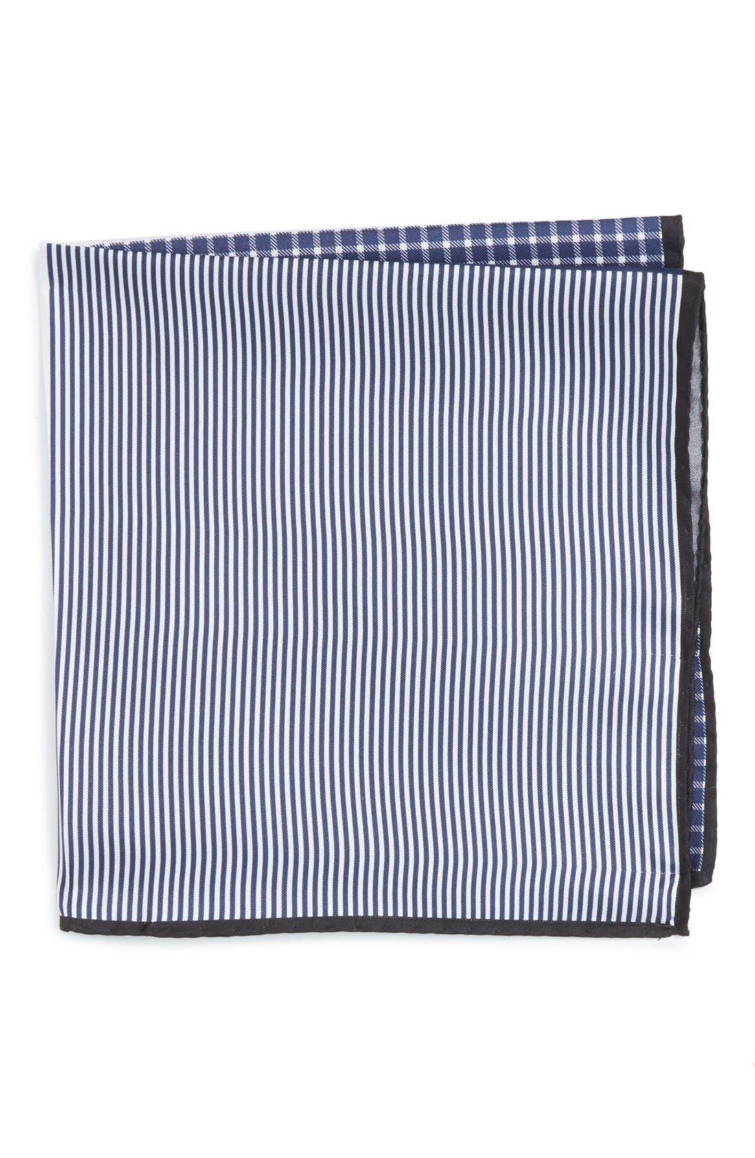 NORDSTROM MENS SHOP Panel Silk Pocket Square
