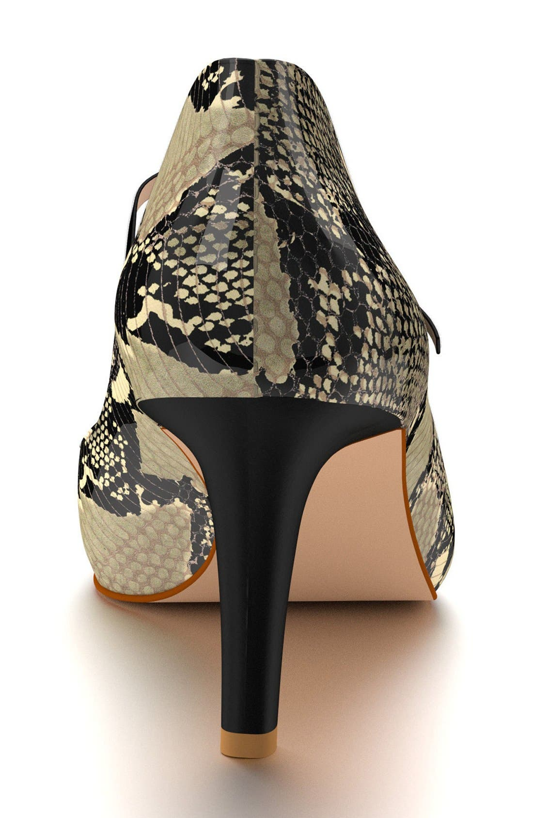 Mary Jane Pump,                             Alternate thumbnail 2, color,                             Beige Snake Print Leather