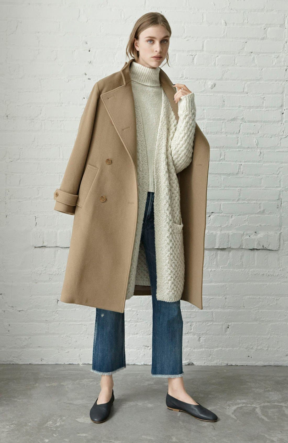 Alternate Image 6  - Vince Honeycomb Wool Blend Long Cardigan