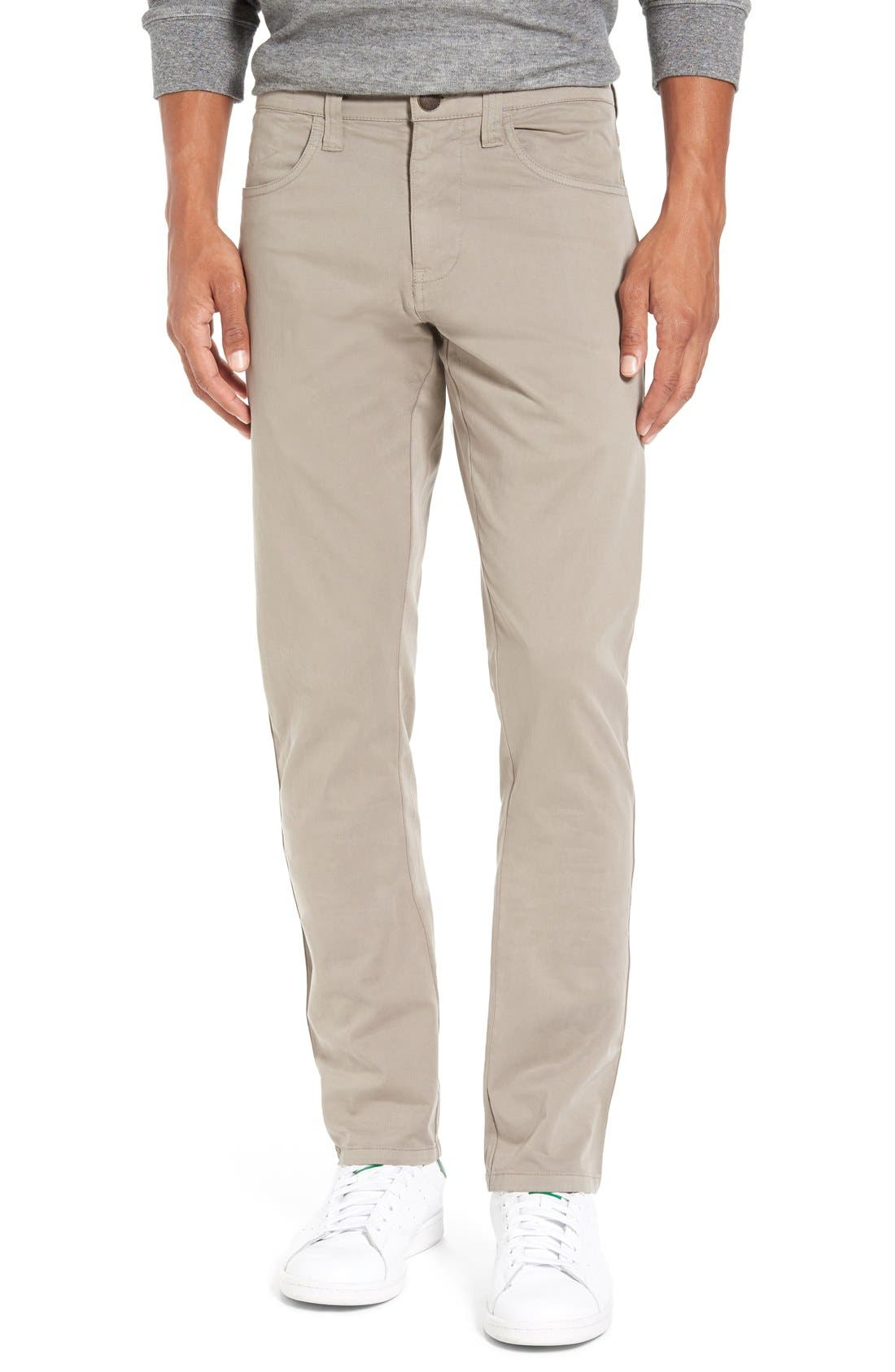 'Sunny' Slim Fit Stretch Twill Pants,                         Main,                         color, Dusty Silver