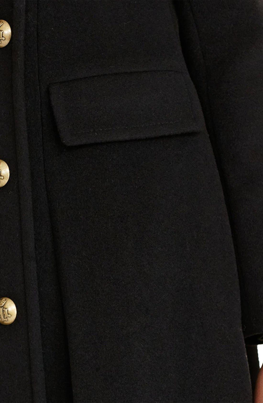 Alternate Image 4  - Lauren Ralph Lauren Double Breasted Military Maxi Coat
