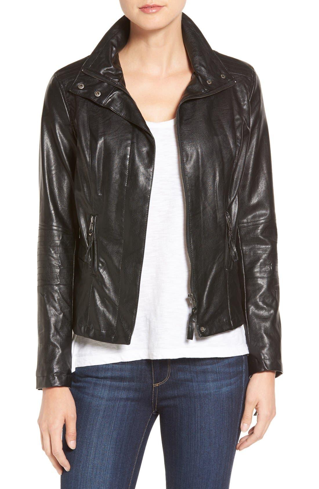 Main Image - KUT from the Kloth 'Elena' Faux Leather Motocross Jacket