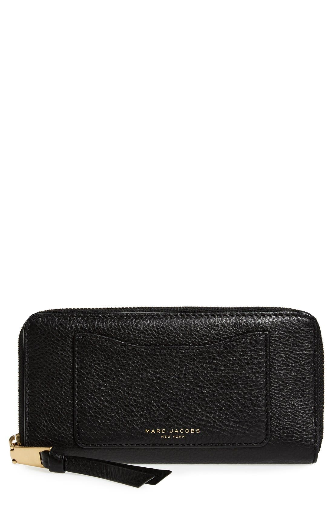 MARC JACOBS Recruit Vertical Leather Wallet