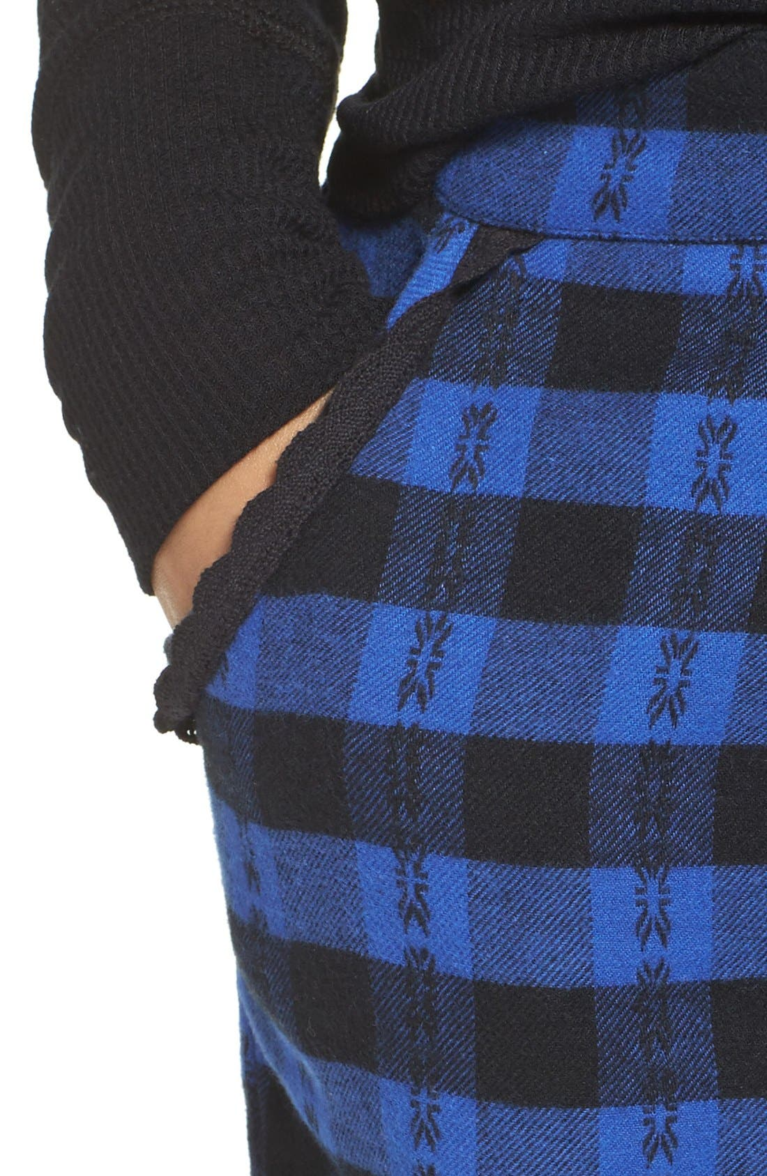 Alternate Image 4  - Make + Model Plaid Flannel Lounge Pants