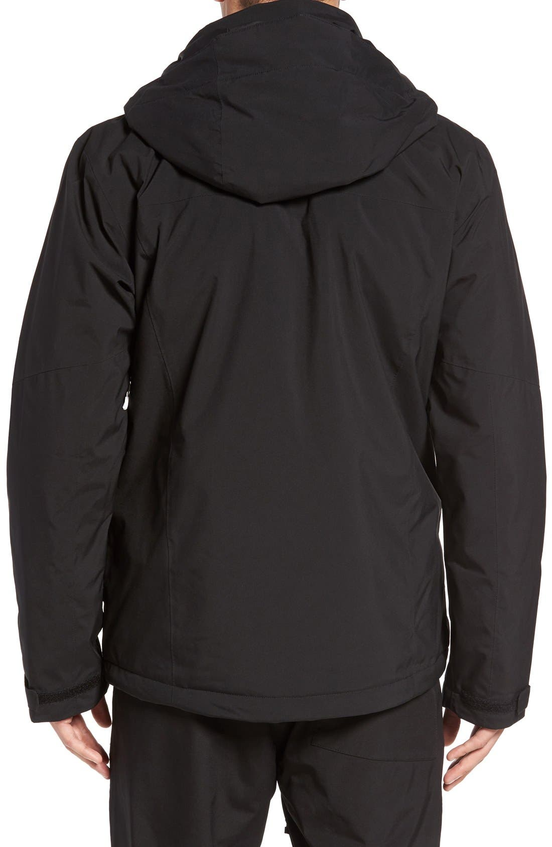 'Vista' Insulated Water Repellent Ski Parka,                             Alternate thumbnail 2, color,                             Black