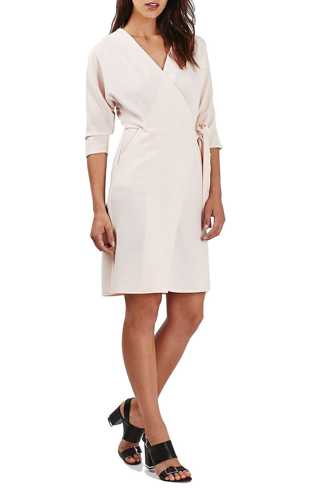 Main Image - Topshop Dolman Sleeve Wrap Midi Dress