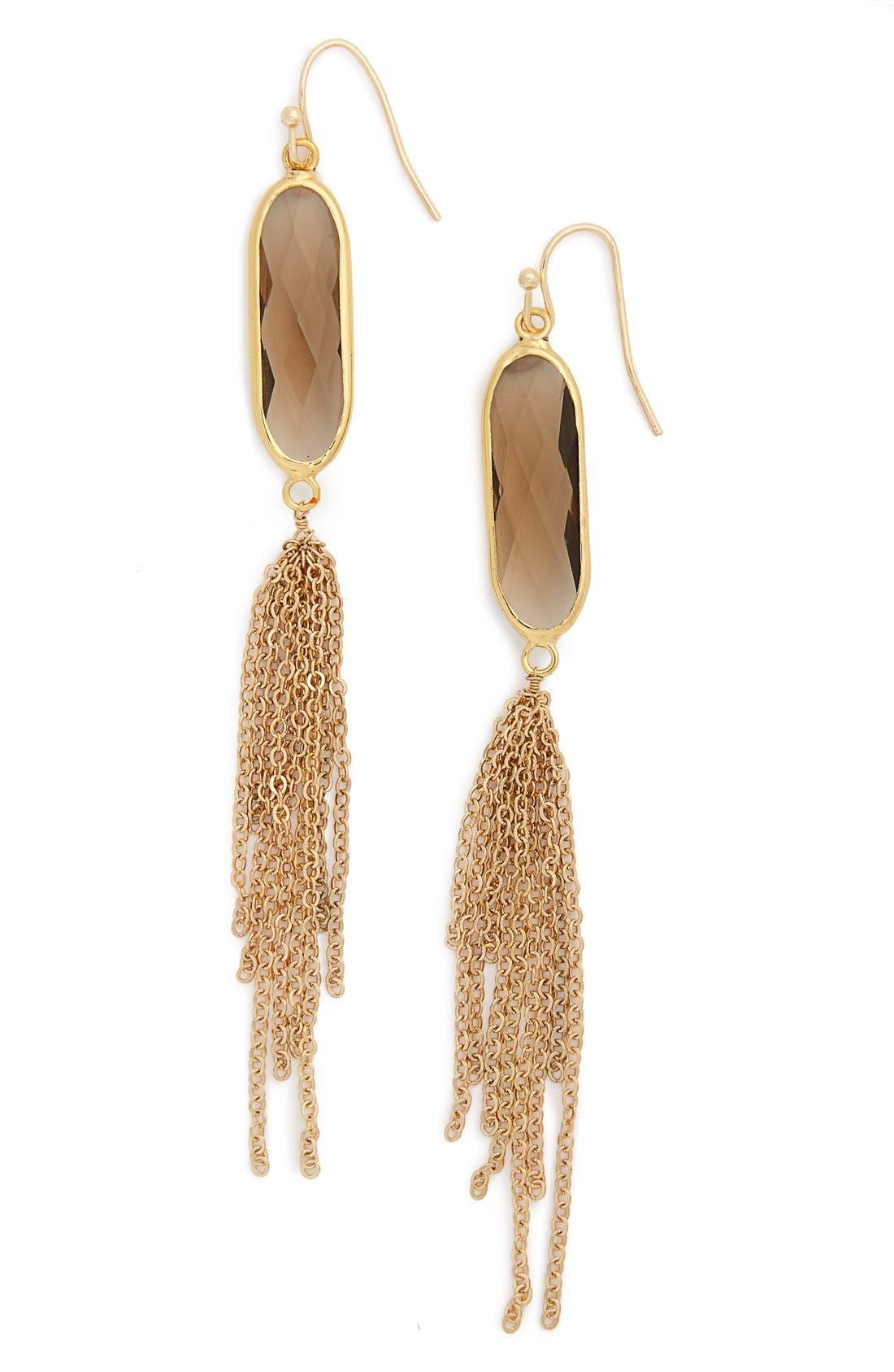 Alternate Image 1 Selected - Panacea Crystal Tassel Earrings