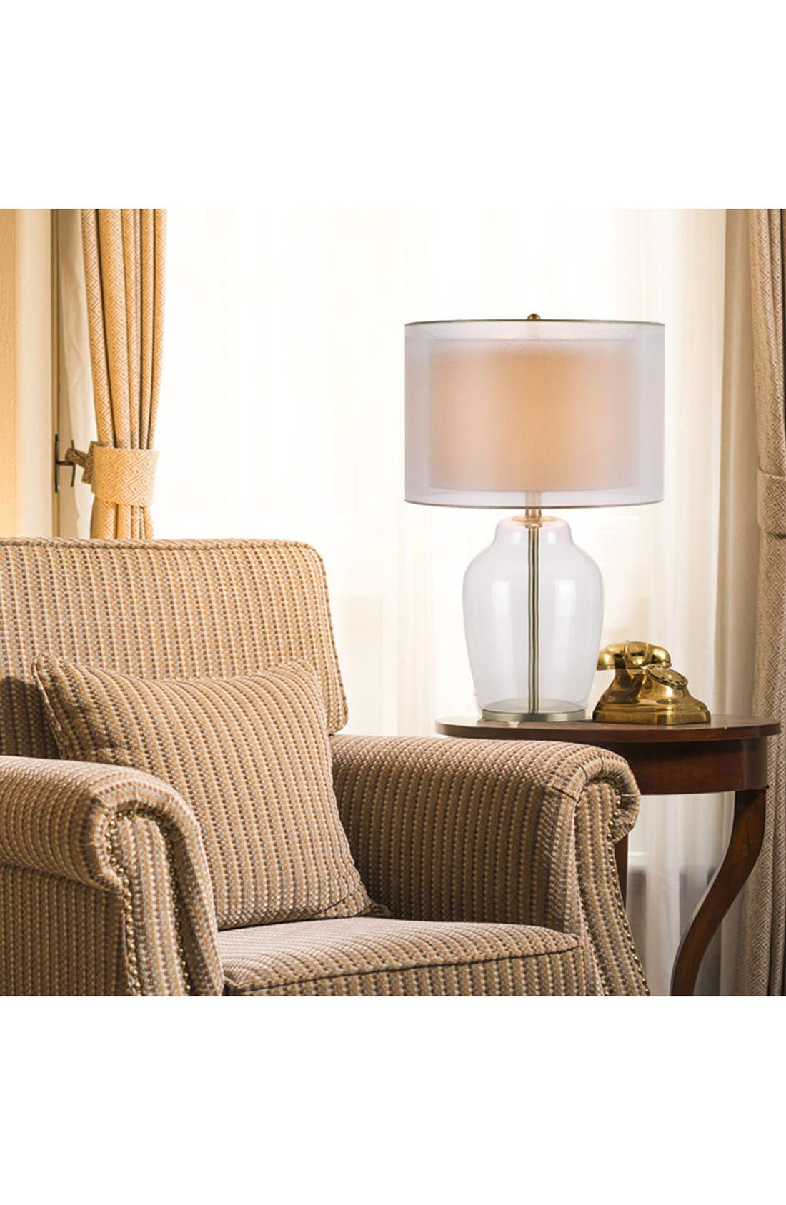 Alternate Image 2  - JAlexander Clear Glass Table Lamp