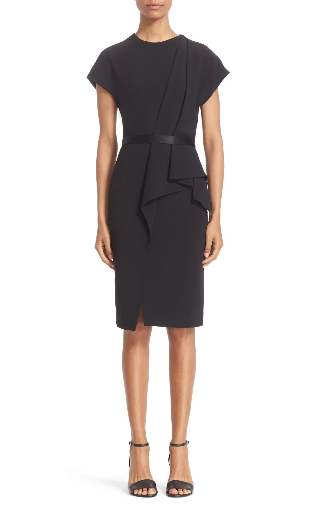 Alternate Image 1 Selected - Alexander Wang Belted Drape Detail Pencil Dress