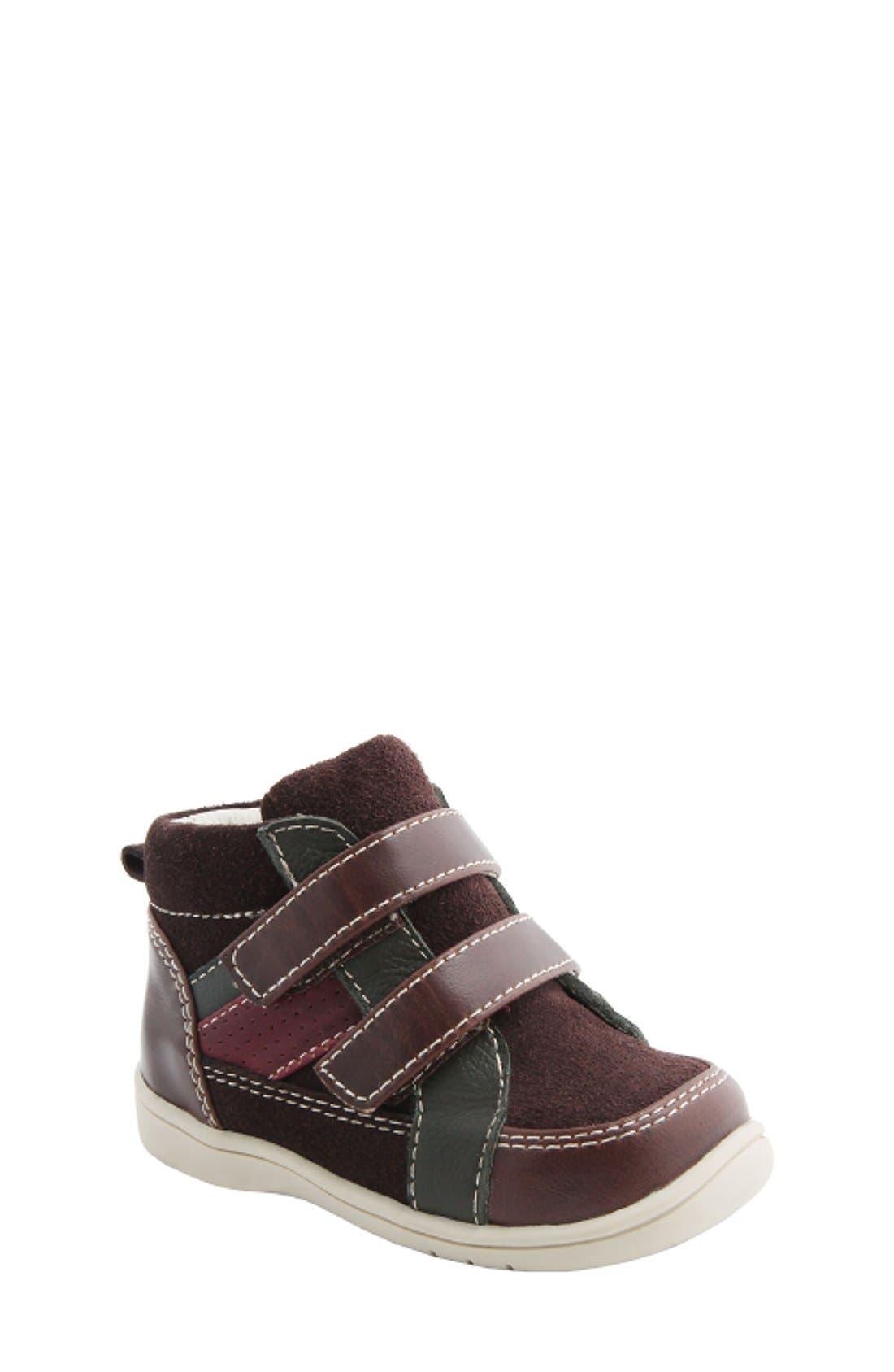 Nina 'Cairo' High Top Sneaker,                         Main,                         color, Brown Suede