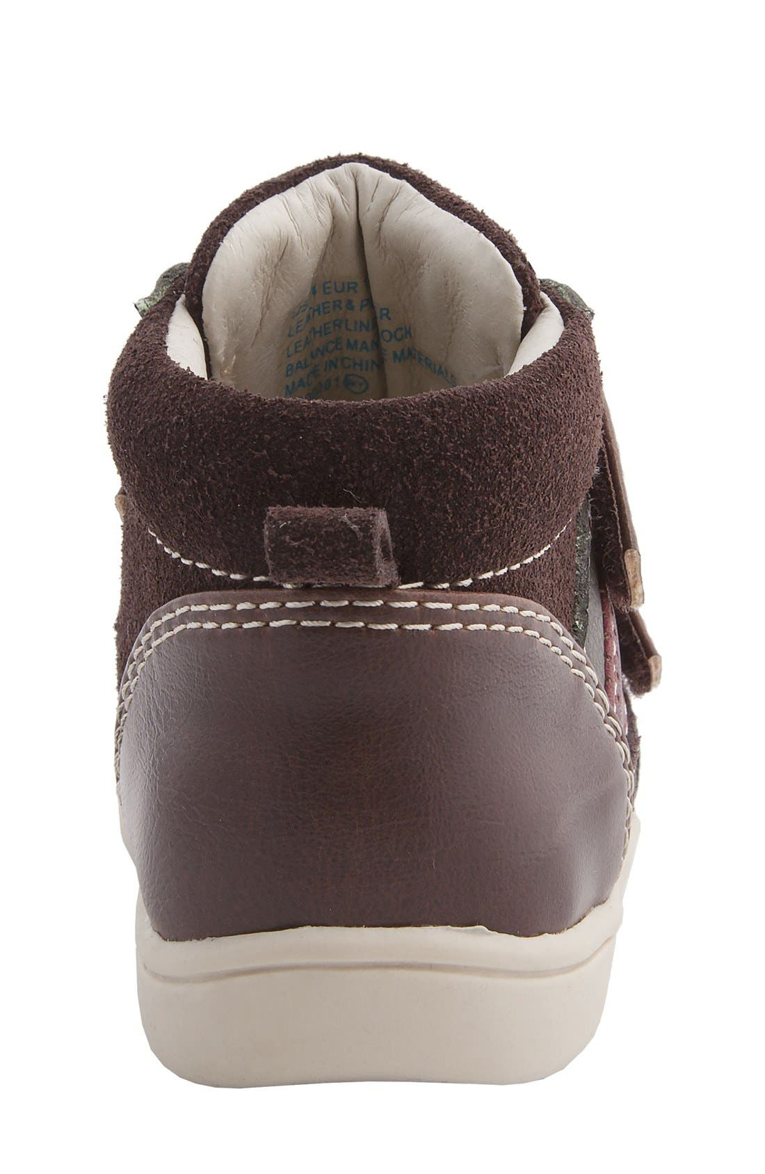 Nina 'Cairo' High Top Sneaker,                             Alternate thumbnail 4, color,                             Brown Suede