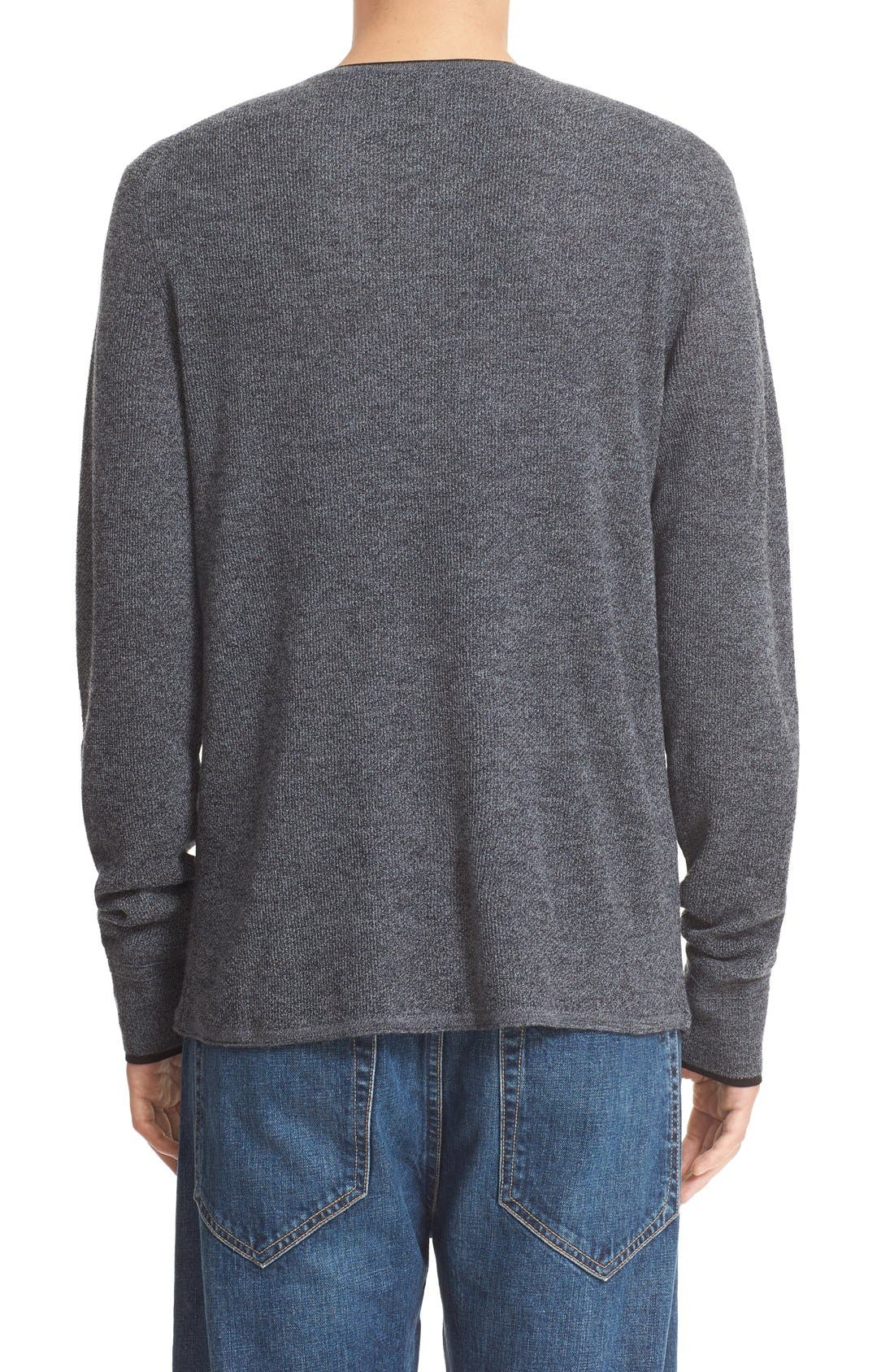 'Giles' Lightweight Merino Wool Pullover,                             Alternate thumbnail 2, color,                             Charcoal