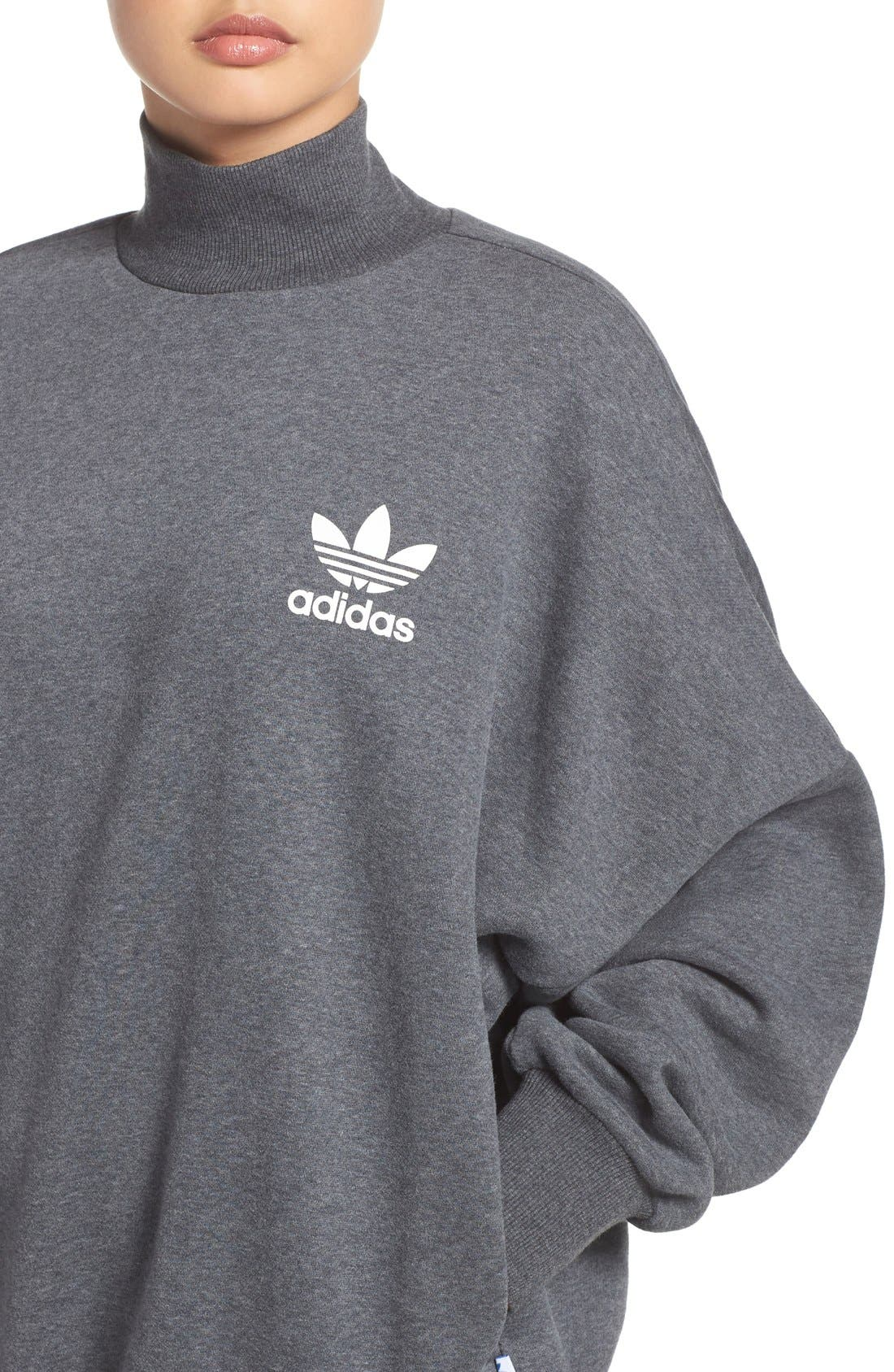Alternate Image 4  - adidas Originals Mock Neck Sweatshirt