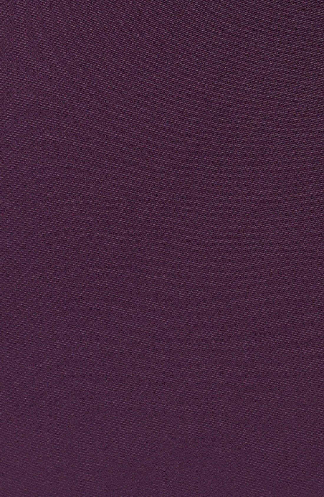 Embellished V-Neck Side Drape Jersey Gown,                             Alternate thumbnail 6, color,                             Eggplant