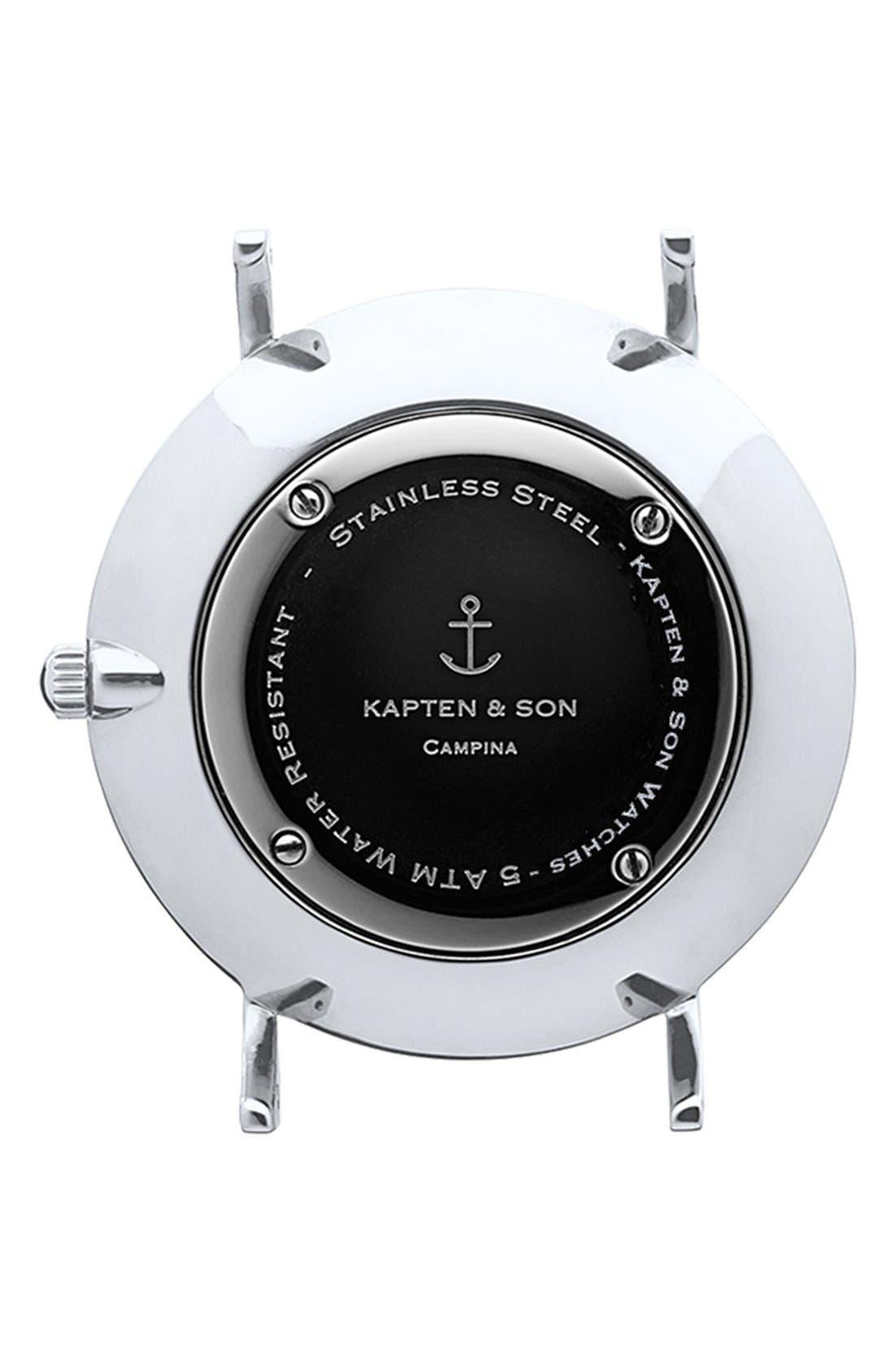 Alternate Image 3  - Kapten & Son Campina Leather Strap Watch, 36mm