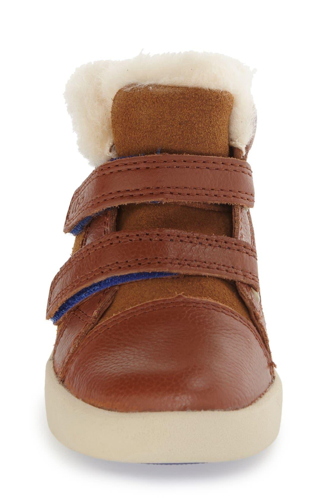 Rennon High Top Sneaker,                             Alternate thumbnail 3, color,                             Chestnut