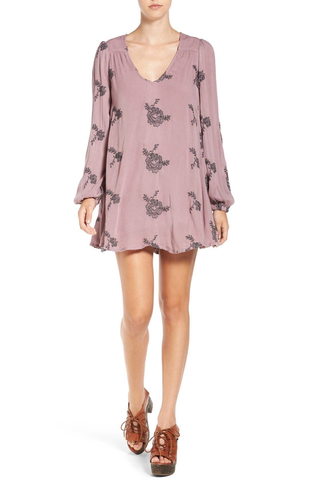 Alternate Image 1 Selected - Free People 'Emma's' Embroidered Swing Dress