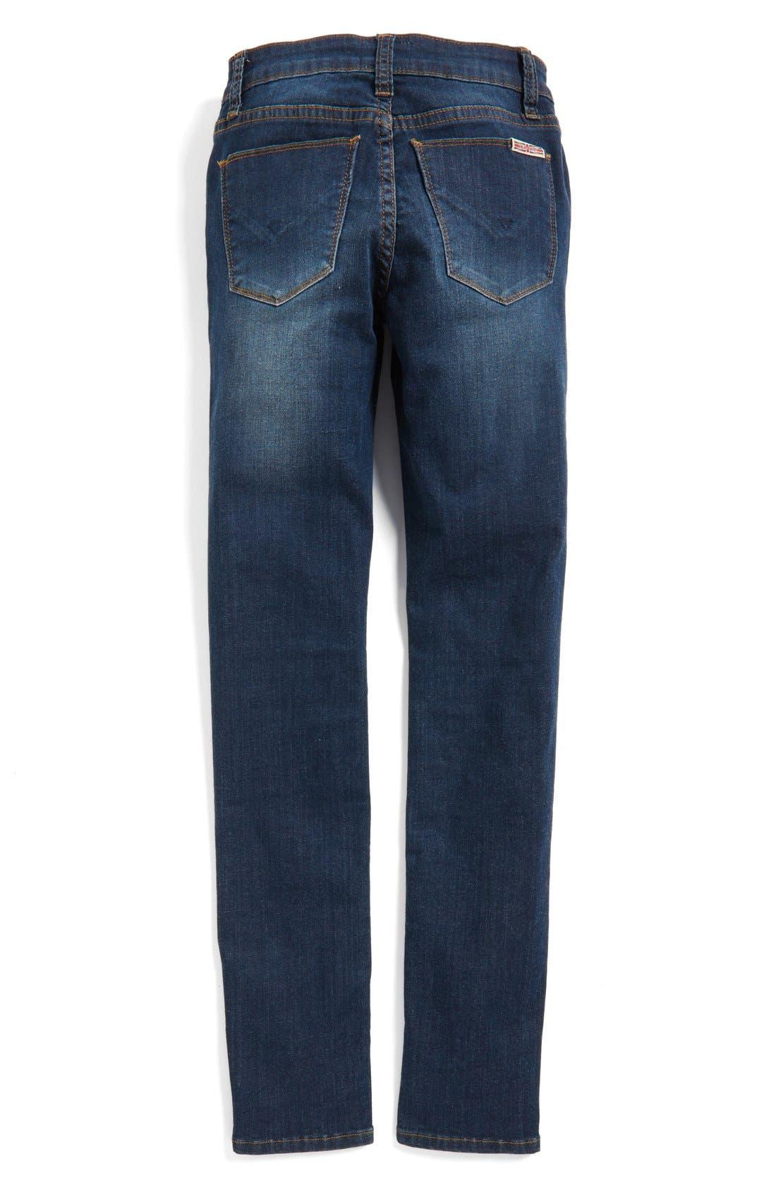 Alternate Image 3  - Hudson Kids 'Dolly' Destroyed Skinny Jeans (Big Girls)