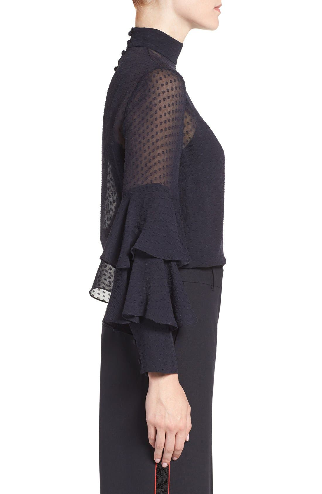 Alternate Image 4  - Olivia Palermo + Chelsea28 Tiered Sleeve Silk Top