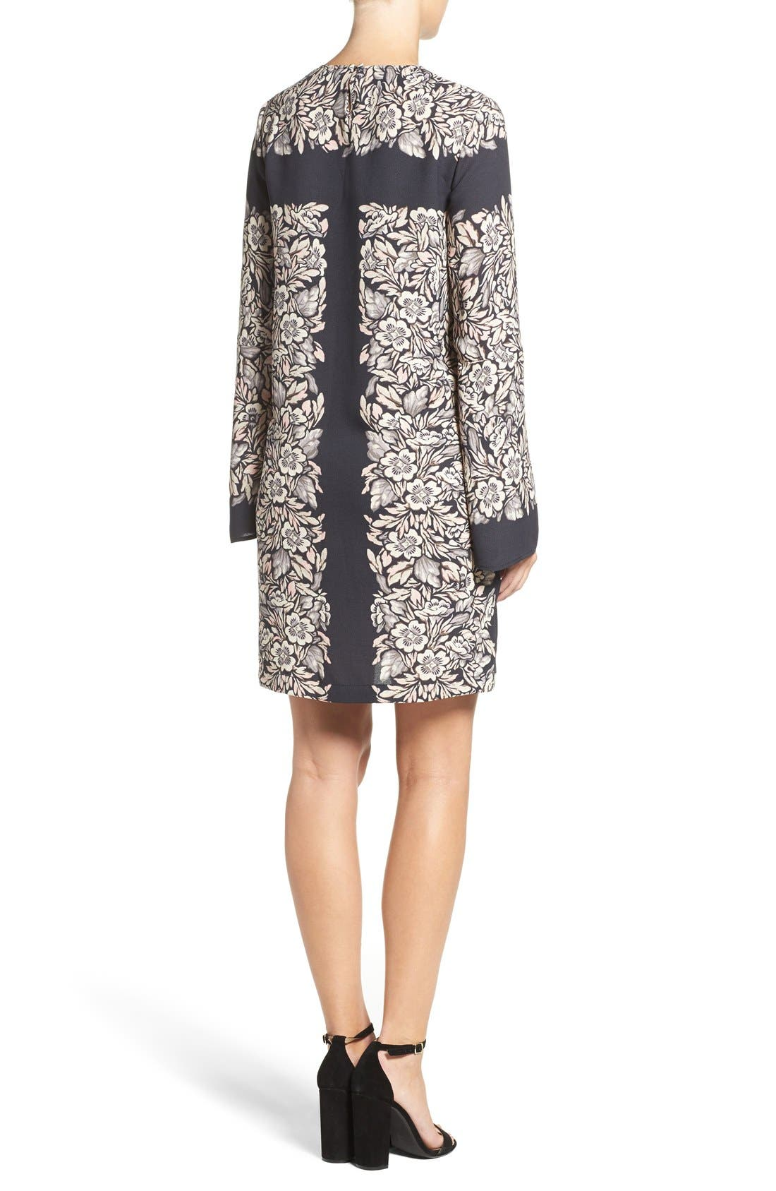 Alternate Image 2  - BCBGMAXAZRIA 'Dulchey' Floral Crepe Trapeze Dress