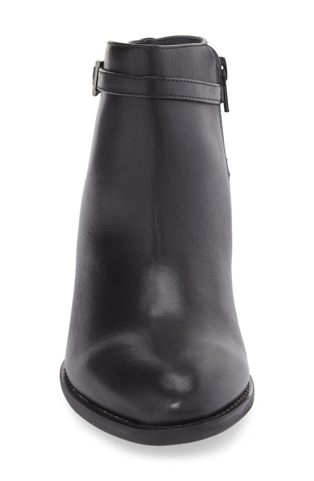 'Upton' Block Heel Boot,                             Alternate thumbnail 3, color,                             Black Leather